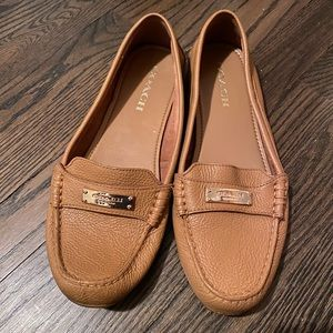 Coach brown loafers/flats - size 9.5 NWOT